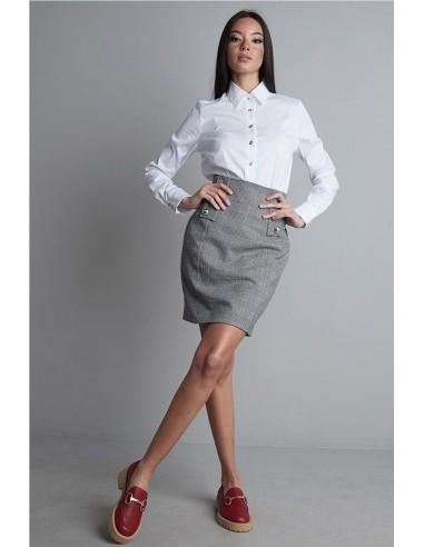 falda cintura alta cuadros...
